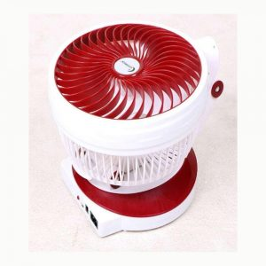 Supermoon Rechargeable Folding Table Fan With Light