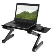Aluminium Made Laptop Table With Mouse Pad