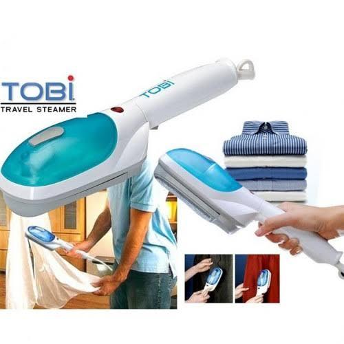 TOBI Portable Travel Steam Iron Machine-White & Blue