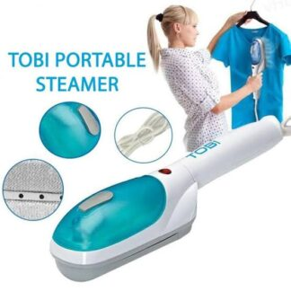 TOBI Portable Travel Steam Iron Machine-White & Blue